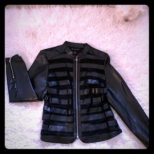 Leather faux with mesh black Inc. jacket size S